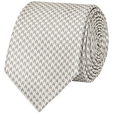 Buy Reiss Leroy Silk Houndstooth Tie, Silver Online at johnlewis.com