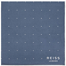 Buy Reiss Planet Micro Dot Silk Pocket Square Online at johnlewis.com