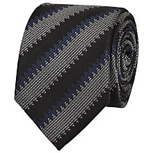 Buy Reiss Dornell Stripe Silk Tie, Black Online at johnlewis.com