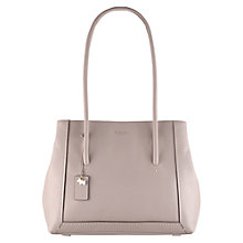 Buy Radley Boundaries Large Leather Shoulder Bag, Grey Online at johnlewis.com