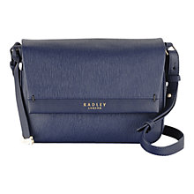 Buy Radley Addison Small Leather Across Body Bag, Navy Online at johnlewis.com