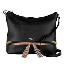 Buy Radley Pickering Large Leather Acriss Body Bag, Black Online at johnlewis.com