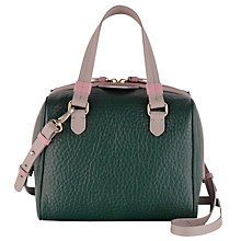 Buy Radley Abbey Leather Small Grab Bag, Green Online at johnlewis.com
