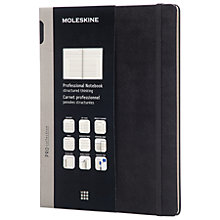 Buy Moleskine Hardback Professional Notebook, Extra Large, Black Online at johnlewis.com