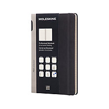 Buy Moleskine Hardcover Professional Notebook Large, Black Online at johnlewis.com