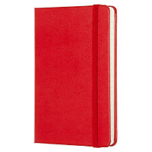 Buy Moleskine Classic Collection Pocket Ruled Notebook, Red Online at johnlewis.com