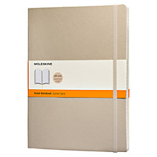 Buy Moleskine Soft Cover Ruled Notebook, Khaki Beige Online at johnlewis.com