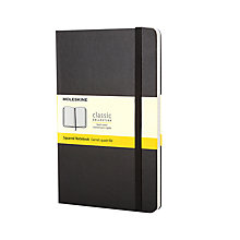 Buy Moleskine Classic Collection Hardcover Squared Notebook, Large, Black Online at johnlewis.com