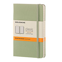 Buy Moleskine Classic Collection Pocket Ruled Notebook, Willow Green Online at johnlewis.com