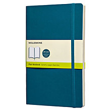 Buy Moleskine Soft Cover Plain Notebook, Blue Online at johnlewis.com