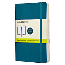 Buy Moleskine Soft Cover Plain Pocket Notebook, Blue Online at johnlewis.com