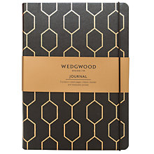 Buy Wedgwood Foiled Journal, Black Online at johnlewis.com