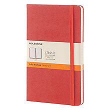 Buy Moleskine Classic Collection Hardcover Ruled Notebook, Large, Orange Online at johnlewis.com