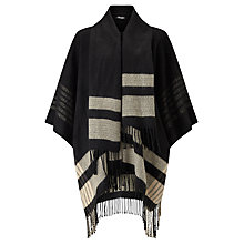 Buy Gerry Weber Tie Neck Poncho, Camel/Black Online at johnlewis.com