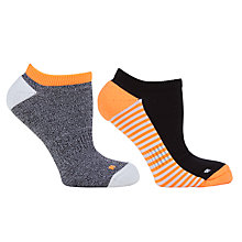 Buy John Lewis Sport Trainer Socks, Pack of 2, Neon Orange/Multi Online at johnlewis.com