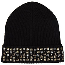 Buy John Lewis Encrusted Embellished Hat, Black Online at johnlewis.com