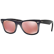 Buy Ray-Ban RB2140 Original Wayfarer Sunglasses, Charcoal/Blush Online at johnlewis.com