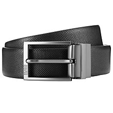 Buy HUGO by Hugo Boss C-Goralbo Reversible Leather Belt, Black Online at johnlewis.com