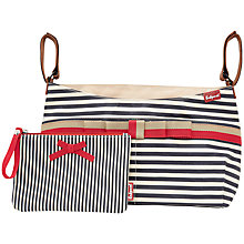 Buy Baby Jogger Babymel Caddy Striped Changing Bag, Navy Online at johnlewis.com