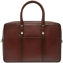 Buy Reiss Louis Premium Leather Briefcase, Oxblood Online at johnlewis.com
