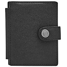 Buy Reiss Cashie Leather Popper Wallet, Black Online at johnlewis.com