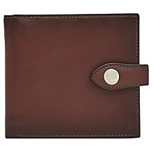 Buy Reiss Birchet Premium Leather Bifold Wallet, Oxblood Online at johnlewis.com
