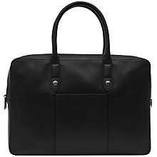 Buy Reiss Armstrong Zip Briefcase, Black Online at johnlewis.com