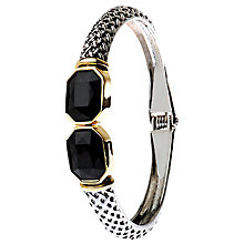 Buy Adele Marie Jet Hinged Bangle, Silver/Gold Online at johnlewis.com