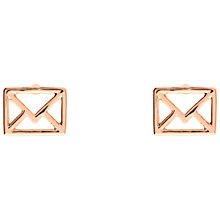 Buy Ted Baker Iciaa Love Letter Stud Earrings Online at johnlewis.com