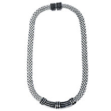 Buy Adele Marie Flat Mesh Necklace, Silver Online at johnlewis.com