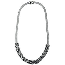 Buy Adele Marie Mesh Rope Crystal Necklace, Silver Online at johnlewis.com