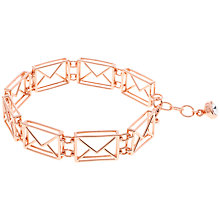Buy Ted Baker Idaa Love Letter Bracelet, Rose Gold Online at johnlewis.com