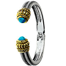 Buy Adele Marie Antique Turquoise Hinged Bangle, Silver/Multi Online at johnlewis.com