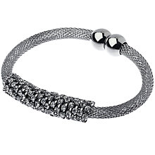 Buy Adele Marie Mesh Rope Crystal Bracelet, Silver Online at johnlewis.com