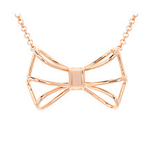 Buy Ted Baker Giaani Geometric Bow Pendant Necklace Online at johnlewis.com