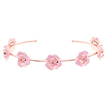 Buy Ted Baker Elenn Fine Enamel Flower Cuff, Rose Gold/Pink Online at johnlewis.com