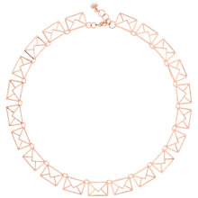 Buy Ted Baker Idiana Love Letter Collar Necklace, Rose Gold Online at johnlewis.com