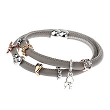 Buy Adele Marie Faux Suede Charm Bracelet, Grey/Multi Online at johnlewis.com