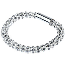 Buy Adele Marie Diamante Mesh Bracelet, Silver Online at johnlewis.com