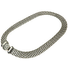 Buy Adele Marie Flat Chain Mesh Necklace, Silver Online at johnlewis.com