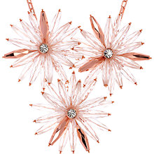 Buy Ted Baker Petunea Flower Starburst Necklace, Rose Gold Online at johnlewis.com