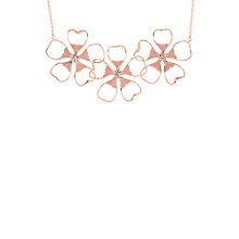 Buy Ted Baker Lorann Enamel Flower Necklace, Rose Gold/Pink Online at johnlewis.com
