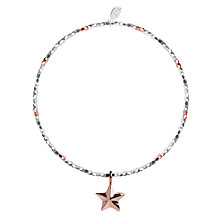 Buy Joma Facetted Nugget Star Stretch Bracelet, Silver/Rose Gold Online at johnlewis.com