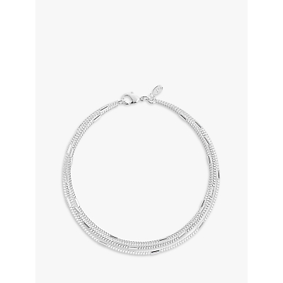 Joma Layered Chain Bracelet, Silver