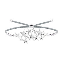 Buy Joma Scattered Star Friendship Bracelet, Silver Online at johnlewis.com
