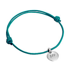 Buy Message by Merci Maman Best Friends Forever Adjustable Bracelet, Silver/Spring Green Online at johnlewis.com