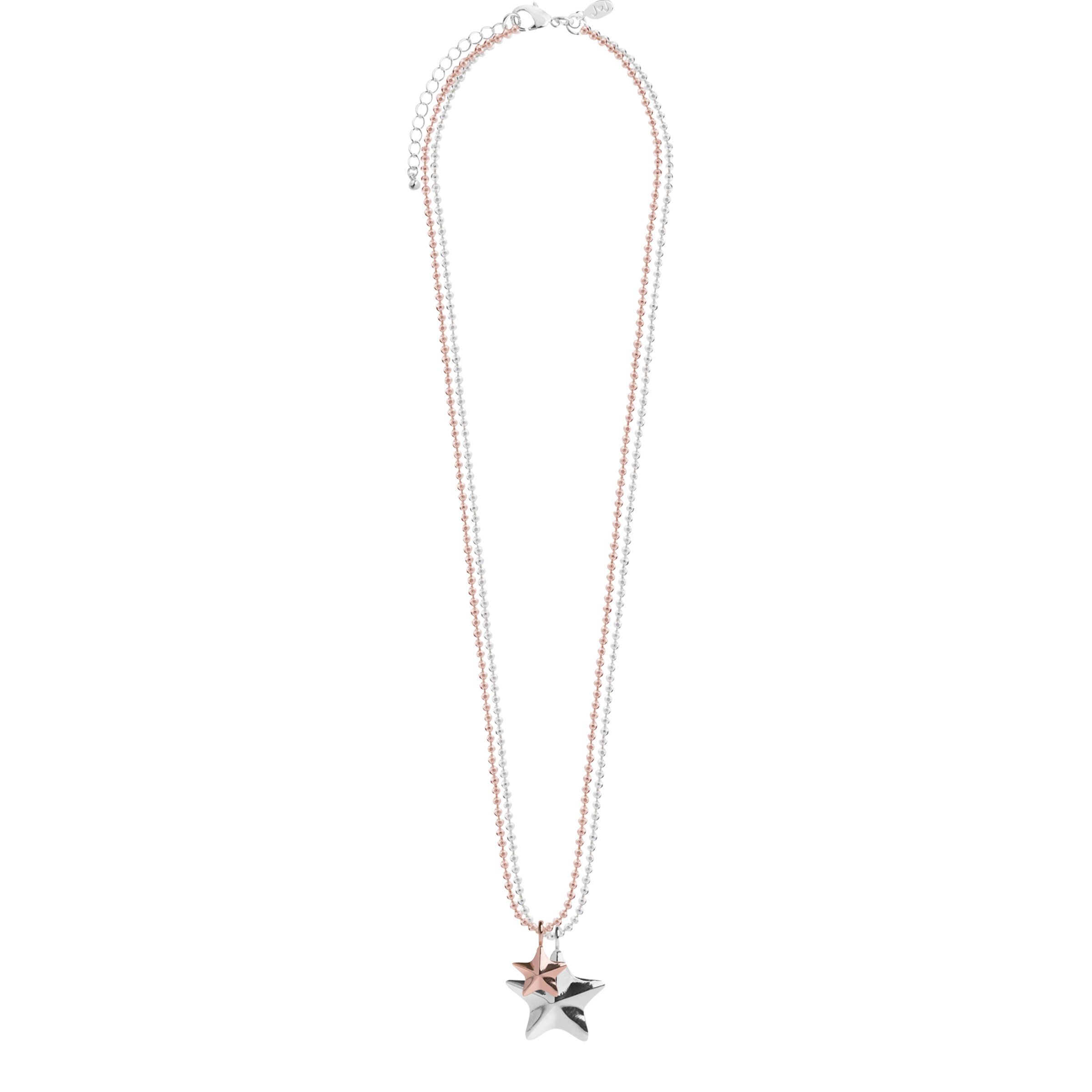 Joma Joma Facetted Star Pendant Necklace, Silver/Rose Gold