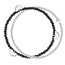 Buy Joma Double String Heart Stretch Bracelet Online at johnlewis.com