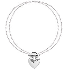 Buy Joma Looped Heart Bracelet, Silver Online at johnlewis.com