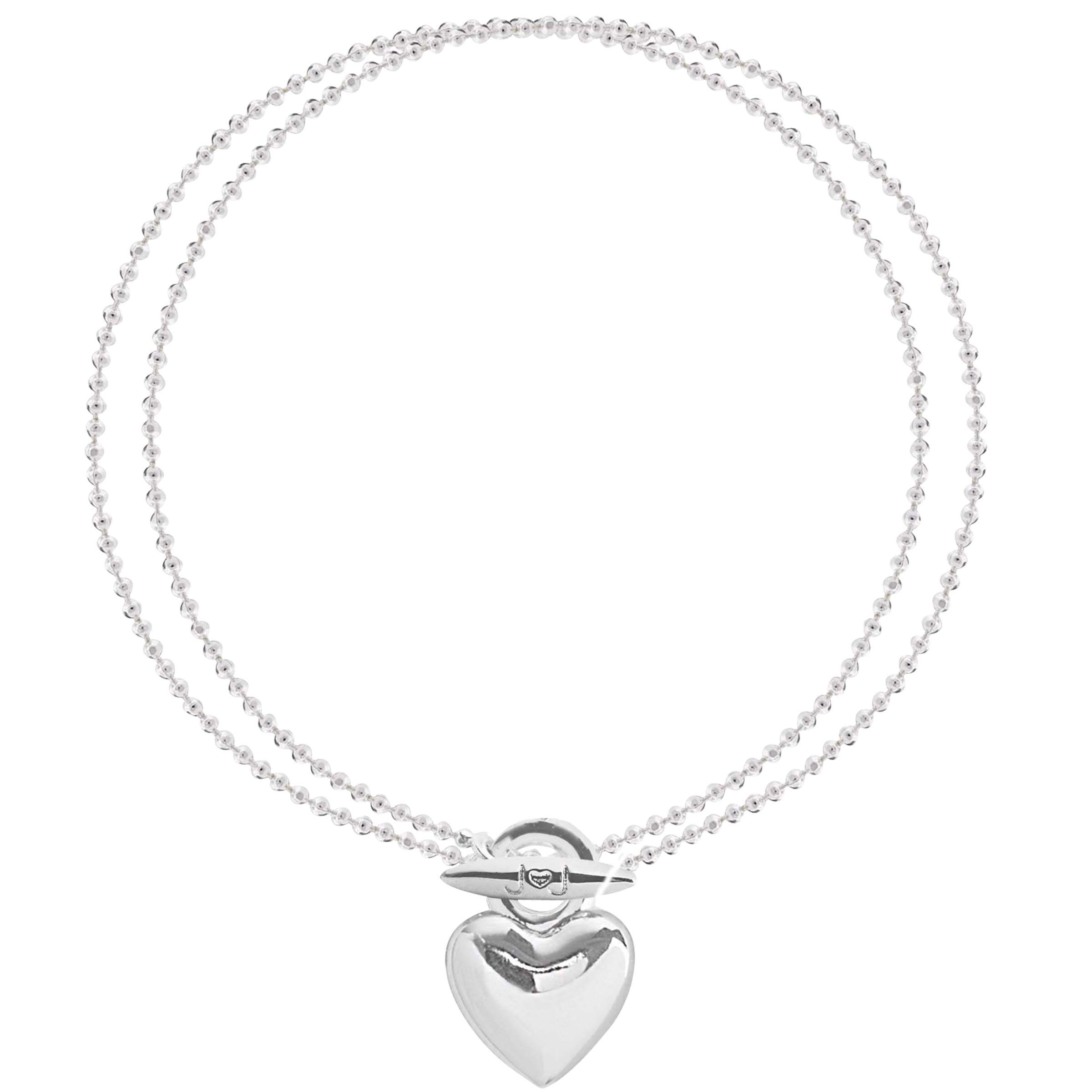 Joma Joma Looped Heart Bracelet, Silver